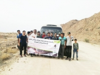 Volunteering and community-based activity in Qeshm Island UGGp:  Trash Collection and Clean-up along the 12 km route to Namakdan Cave Geosite